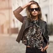 Леопардовая блуза футболка Esmara на выбор победителя. Смотрите мои лоты