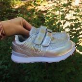 Серебряные кроссовки р28 для девочки