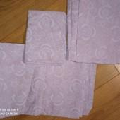 Стоп!детское постельное белье.натуральная ткань100%нежно-сереневого цвета с 3-д цветами.новое.замер