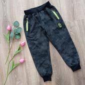 Наши термо штаны, джоггеры, ветронепроницаемые, плотные116 см