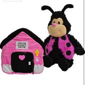 Эксклюзив! Музыкальная игрушка-подушка божья коровка happy nappers 2в1!!! Оригинал!!! Отличная!!!