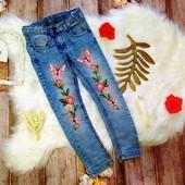 Бомбезные джинсы с вышивкой на 5-6 лет. Dopo dopo