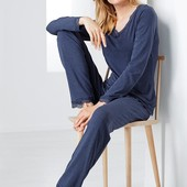 ☘ Шикарні штани з мереживом для дому та відпочинку Tchibo (Німеччина), рр. наші: 46-48 (40/42 євро)