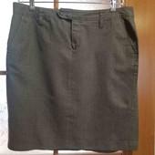 Серая качественная юбка, размер 50-52