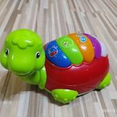 музыкальная черепаха игрушка, свет, звук, ездит