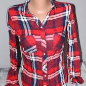 красивая рубашка в клетку, Tally Weijl можно на подростка. классное качество!
