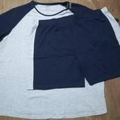 Большой размер! Мужская пижама для дома и сна Livergy размер 4XL 68/70)