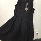 На шикарные формы! Красивое нарядное чёрное фактурное плотненькое платье Новое Акция