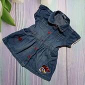 Вау! Обалденное джинсовое платьице на 1 годик