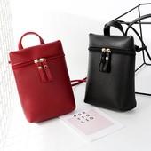 Новая мини сумка через плече, цвет красный!