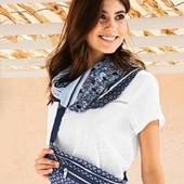 Нежная , стильная шаль - снуд в романтическом дизайне от Tchibo(германия)