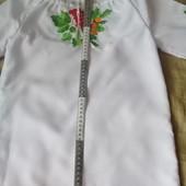 Вышиванка для девочки на рост 120-140.