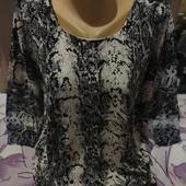 Шикарный ччёрный с белым со стразами трикотажный стречь свитерок. xxl,3xl,4xl. Смотрите лотов много