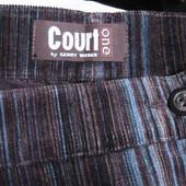 новая! отличная юбка вельветовая стрейч в полоску 42 евро