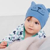 лот 2 шт .Нежная шапочка для малыша из био-хлопка от Tchibo (германия). размер 45-48