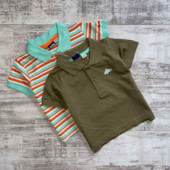 Комплект 2шт футболка поло на мальчика от lupilu размер 86/92.