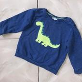 Стоп ! Динозаврик)❤ Фирменный коттоновый регланчик для мальчика,1-2 года❤ Много лотов!