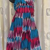 яркое платье котон +шелк