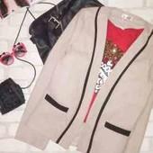 Обалденный нюдовый Пиджак-пальто