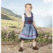 Оригинальный комплект платье, фартук и блузка на девочку Lupilu Германия размер 110