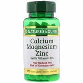 Кальций, магний и цинк с витамином D3, 100 капсуловидных таблеток, CША