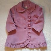 Пальто кашемірове демісезонне для дівчинки на 3-5 р.