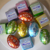 Набор 150 грамм вкуснейших конфет Австрия и яиц с начинками Италия.