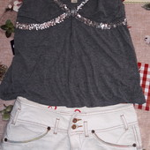 Классная юбка+майка на подростка размер s см.замеры сост.отл