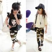 Классные детские камуфляжные брюки стрейч камуфляж лосины