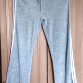 Велюровые серые спортивные штаны,Турция,размер- L