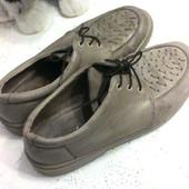 Туфли из нат.нубук из Германии, р-р 7 (40), стелька 26 см