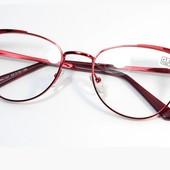 """Новая коллекция!!Стильные металлические очки """"Кошечки"""" с диоптр. плюс 2,5 и +4.!"""