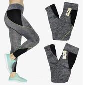 Эластичные лосины с широким поясом для фитнеса на ОБ от 95 до 110 см
