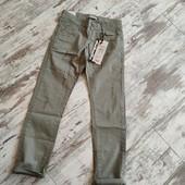 Стильные брюки зауженная модель,утяжка, хаки р158✓ длина 99/74