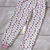Стоп ❤ Фирменные плюшевые пушистые штаники для сна и отдыха в яркий горох,6-7 лет❤ Много лотов!