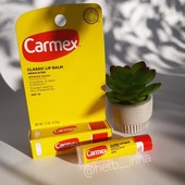 Бальзам для губ Carmex, лечебный с spf 15, США