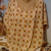 Красивая блуза - свободного кроя. Размер ~ наш (46-48)