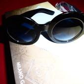 Стильные круглые солнцезащитные очки Gucci (реплика), UV 400, большие, нюанс