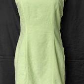 Фисташковое коттоновые платье с вышивкой, грудь 90-94