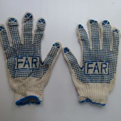 В лоте 100 пар Рабочие перчатки по ставке любое количество