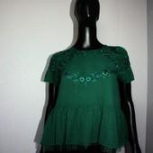 Качество! Стильная блуза/рисунок вышит от испанского бренда Zara в новом состоянии