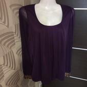 Фирменная красивая шифоновая блуза в состоянии новой вещи р.10-12