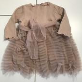Платье пудровка дляпринцессы