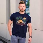 Быстрая продажа! футболка фирменная D555 биохлопок, размер М (48)