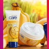 Косметический набор Тонус с ароматом банана: масло для тела + крем для рук Эйвон Avon