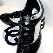 """Кожаные кроссовки лаковые""""Dolce Gabbana, Индонезия реплика 43 размер"""