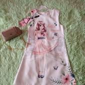 нарядное платье + сумочка в комплекте