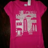 Нова рожева футболка Нью-Йорк на 4 роки від Old Navy для дівчинки.