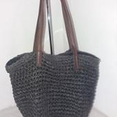 Летняя сумка плетеная