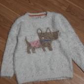 Мягенький свитер травка для девочки 5 - 6 лет